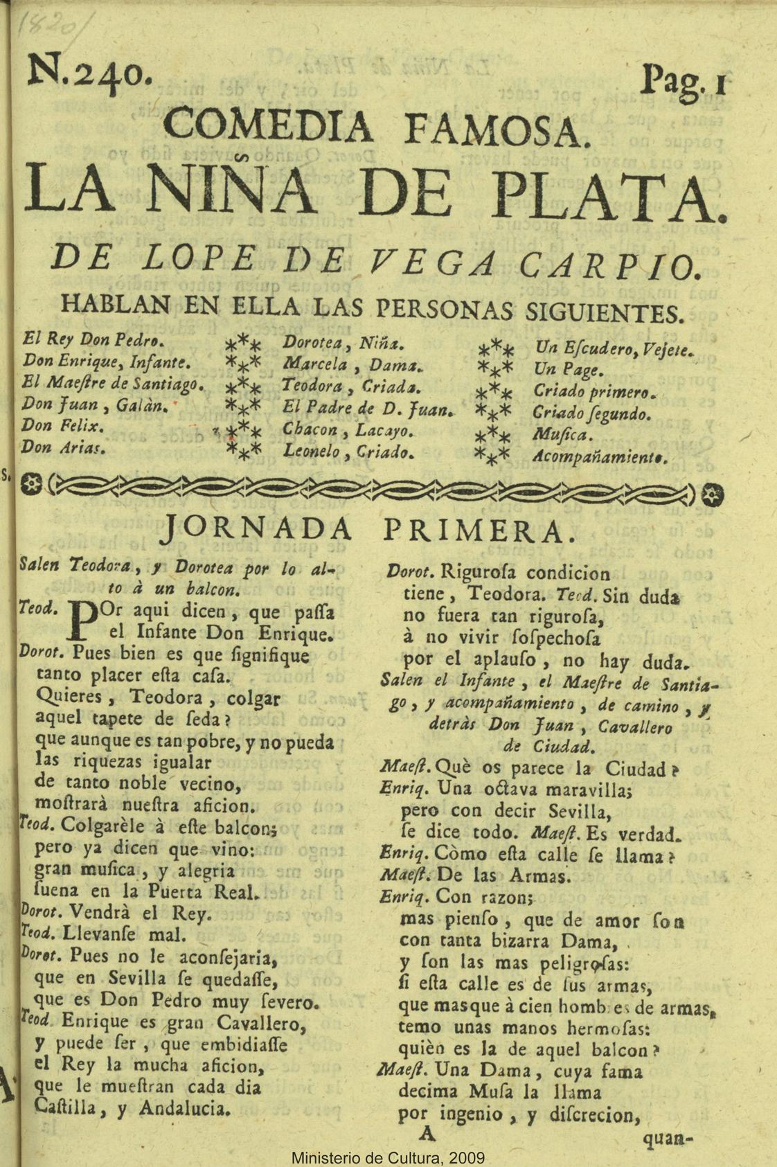 Teatro español siglos XV-XIX en la BVPB >La niña de plata